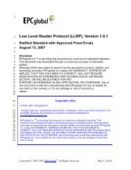 LLRP specification - GS1