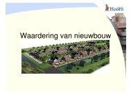 Waardering van nieuwbouw - Gemeente Hoorn