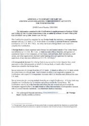 appendix a to subpart i of part 103 certification ... - Staalbankiers