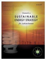 Towards a Sustainable Energy Strategy for Saskatchewan