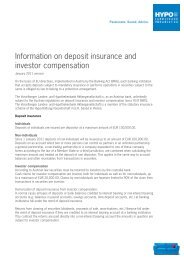 Information on deposit insurance and investor compensation - Hypo ...