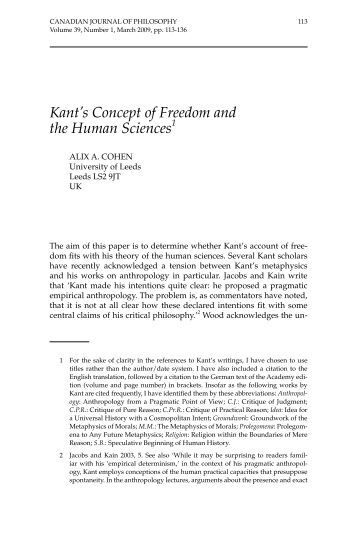 Immanuel Kant and the Philosophy of Freedom