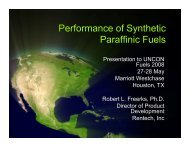 Performance of Synthetic Paraffinic Fuels