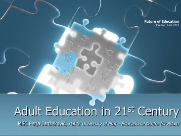 Adult Education in 21th Century