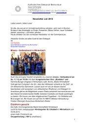 Katholisches Dekanat Rems-Murr Newsletter Juli 2012