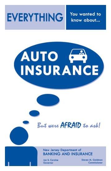 Auto IN NJ Understanding Auto insurance in ... - NJ Car Insurance
