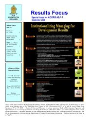 Results Focus - Department of Project Management and Monitoring