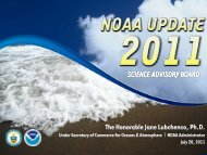 Presentation - NOAA's Science Advisory Board