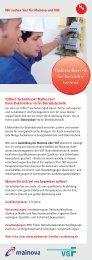 Infocard technische Berufsausbildung - Stadtwerke Frankfurt am Main