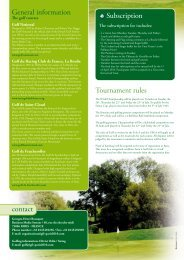 Tournament rules contact Subscription General ... - ROTARY GOLF