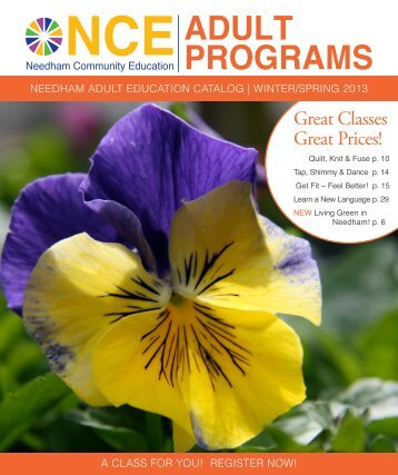 ADULT PROGRAMS - Needham Public Schools