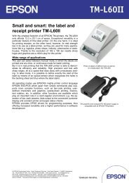 The Label And Receipt Printer TM-L60II - Epson
