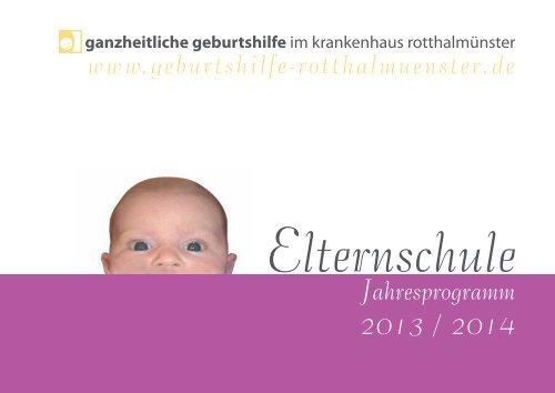 Elternschule - Ganzheitliche Geburtshilfe im Krankenhaus ...