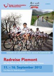 Radreise Piemont