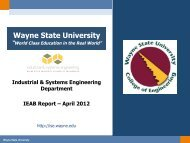 April 2012 Report - College of Engineering - Wayne State University