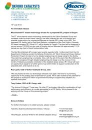 Print or download this press release (PDF) - Oxford Catalysts Group