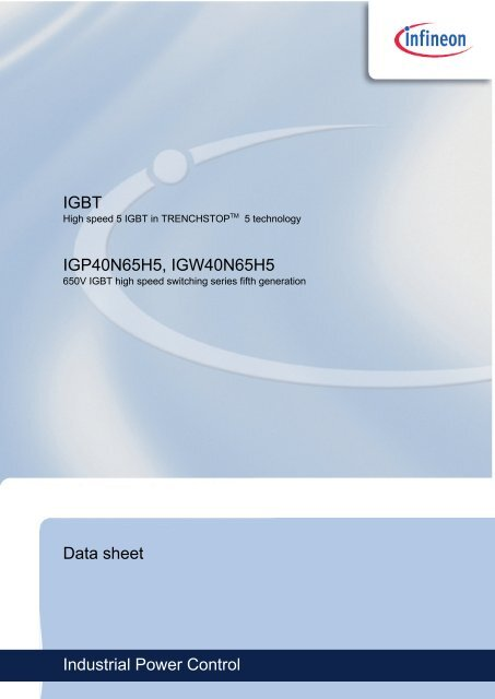 Datasheet / Datenblatt IG#40N65H5 - Efo-power ru