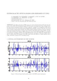 EXTRAGALACTIC OPTICAL-RADIO LINK RESEARCH AT ... - SYRTE