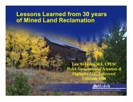 Lessons Learned from 30 years of Mined Land Reclamation
