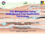 CO2 Management Using Underground Coal Gasification Technology