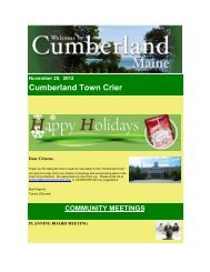 November 29,2012 - Town of Cumberland