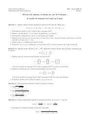 Devoir `a la maison, révisions en vue de l'examen : (`a rendre la ...