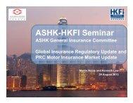 ASHK-HKFI Seminar - Actuarial Society of Hong Kong