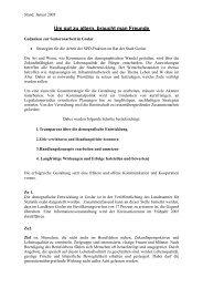 Gedanken zur Seniorenarbeit - SPD-Ortsverein Goslar