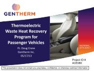 Thermoelectric Waste Heat Recovery Program for Passenger Vehicles