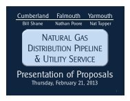 Natural Gas Proposal Comparison - Town of Cumberland