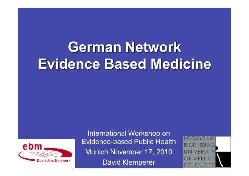 German Network Evidence Based Medicine