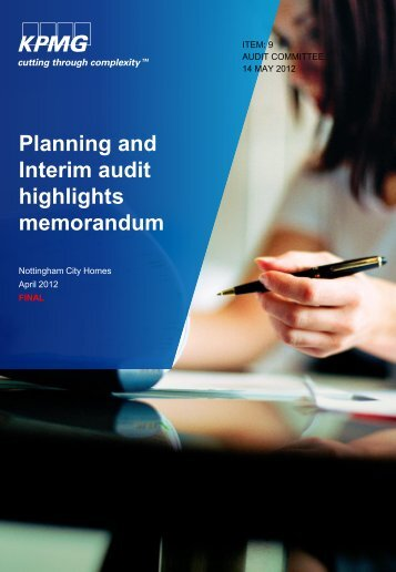 Planning and Interim Audit Highlights - Nottingham City Homes