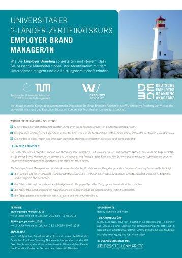 Infoblatt - WU Executive Academy