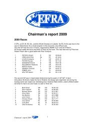 Chairman's report 2009 - Efra.ws