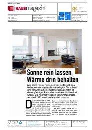 Wärme drin behalten - Schweizerischer Fachverband Fenster