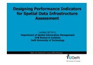 Designing Performance Indicators for Spatial Data Infrastructure ...