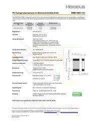 SMD 0603 - Heraeus Sensor Technology