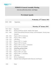 PERSEUS General Assembly Meeting Provisional Agenda