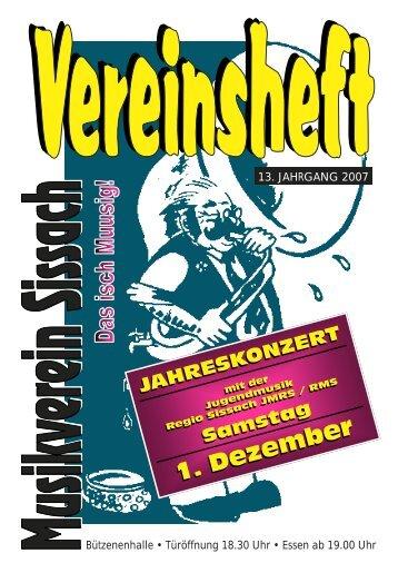 1. Dezember 1. Dezember - Musikverein Sissach