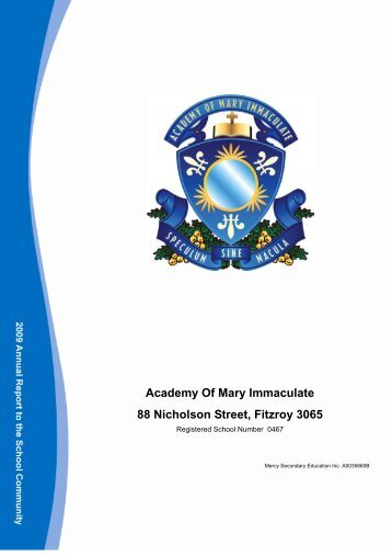 Academy Of Mary Immaculate 88 Nicholson Street, Fitzroy 3065
