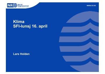 Klima SFI-lunsj 16. april