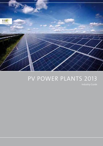 PV Power Plants 2013 PV Power Plants 2013