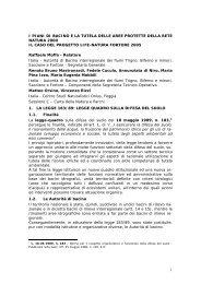 i piani di bacino e la tutela delle aree protette della rete natura 2000