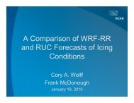 A Comparison of WRF-RR and RUC Forecasts of Icing Conditions