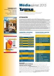 Médiaajánlat 2013 - Turizmus Panoráma