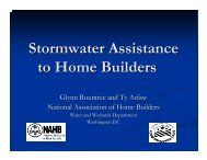 Stormwater Assistance to Home Builders - NEIWPCC