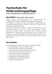 Fachschule für Heilerziehungspflege