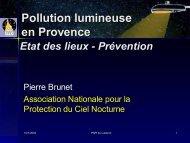 Présentation générale de la pollution lumineuse par l'Association