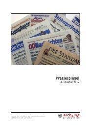 Pressespiegel 4/2012 - Kammer der Architekten und ...