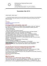 Newsletter Mai 2012 - Katholischer Dekanatsverband Rems-Murr